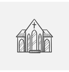 Church sketch icon vector image