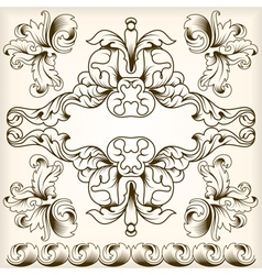 calligraphic frame 5 vector image