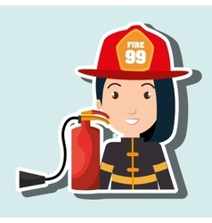 firefighter extinguisher protective vector image