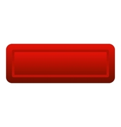 Red rectangle button icon flat style vector