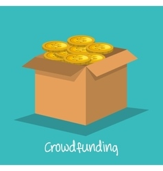 Crowd funding concept icon vector
