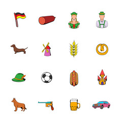 Germany set icons set cartoon vector