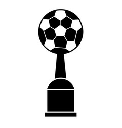 trophy soccer sport image pictogram vector image