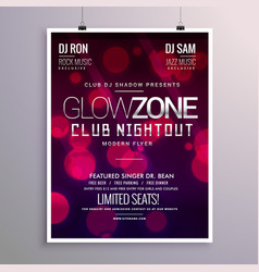 Beautiful event flyer design with bokeh background vector