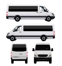 Passenger Van - Minibus vector image