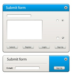 Form elements - easy change any width or height vector