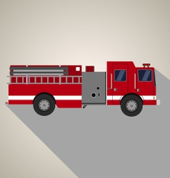 Fire truck side view vector