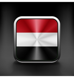 Yemen icon flag national travel icon country vector