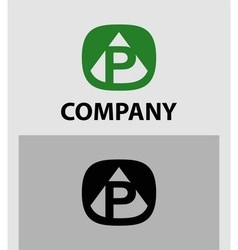 Letter p emblem symbol creative corporate concept vector