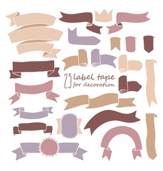 Tape set of labels vector