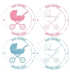 Baby friendly stamps vector