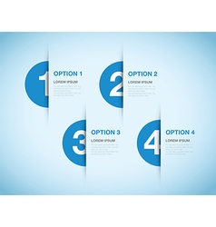 blue option background vector image