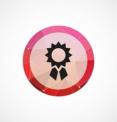 Achievement circle pink triangle background icon vector