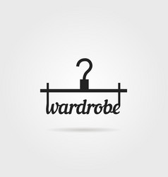 black wardrobe icon with shadow vector image vector image