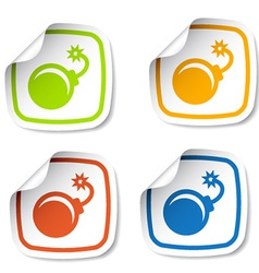 Bomb stickers vector