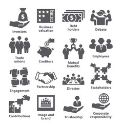 business management icons pack 32 vector image