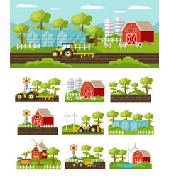 colorful farming concept vector image