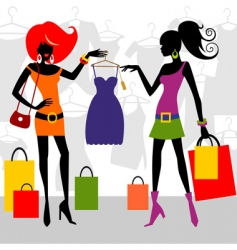fashion shopping women vector image vector image