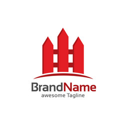 fence creative logo vector image vector image