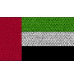 Flags united arab emirates on denim texture vector