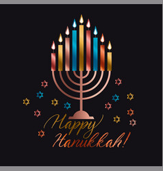 Jewish holiday hanukkah vector