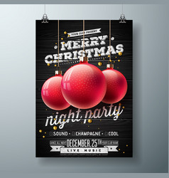 merry christmas night party vector image vector image