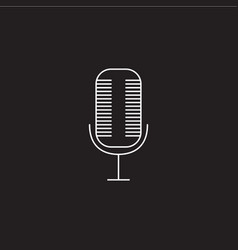 microphone line icon outline logo vector image vector image