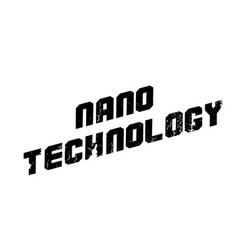 Nano technology rubber stamp vector