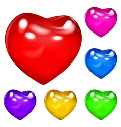 Opaque hearts vector image vector image