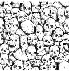 pattern of human skulls vector image
