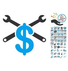 Repair service price icon with 2017 year bonus vector
