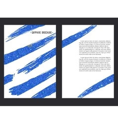 Sapphire brochure template vector