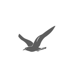 seagull icon in flat style isolated vector image vector image