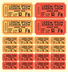 ticket set vector image