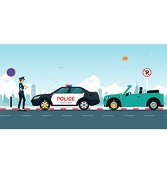 traffic ticket vector image