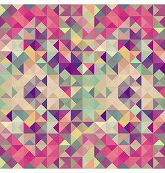 Vintage hipsters geometric pattern vector