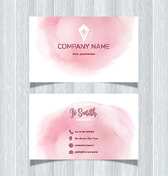 Watercolor design business card vector