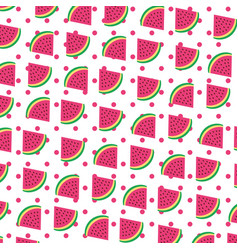 Watermelon tropical and exotic fruit pattern vector