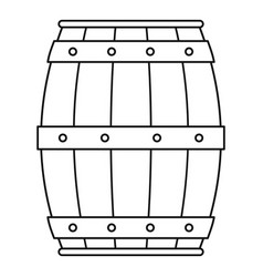 wooden barrel icon outline style vector image
