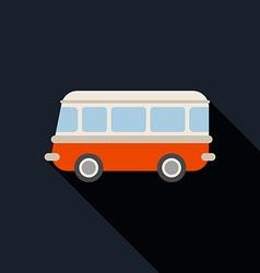 Retro van car icon flat design vector