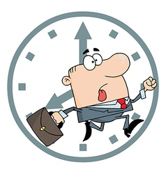 Businessman late for work vector
