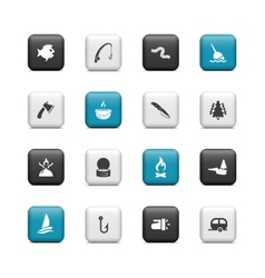 Fishing buttons vector