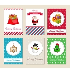Christmas holiday greeting cards collection vector