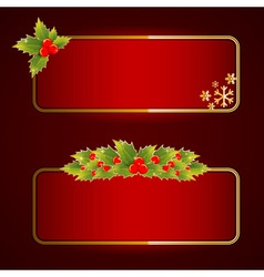 Christmas bright blank festive banners set vector