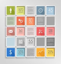 Abstract squares colorful info graphic template vector