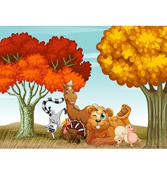 Animals spring time vector image