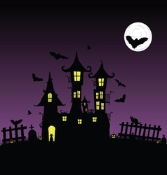 Sweet and beauty castle with bats part two vector