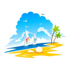 Tropical coastline vector