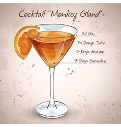 Cocktail monkey gland vector