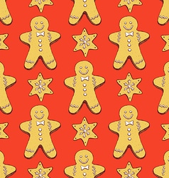Sketch ginger bread cookies vector